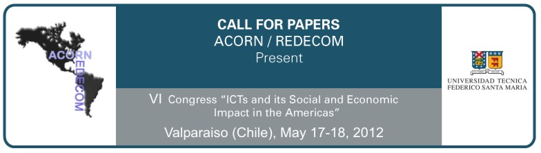 ACORN-REDECOM 2012 Call for Papers